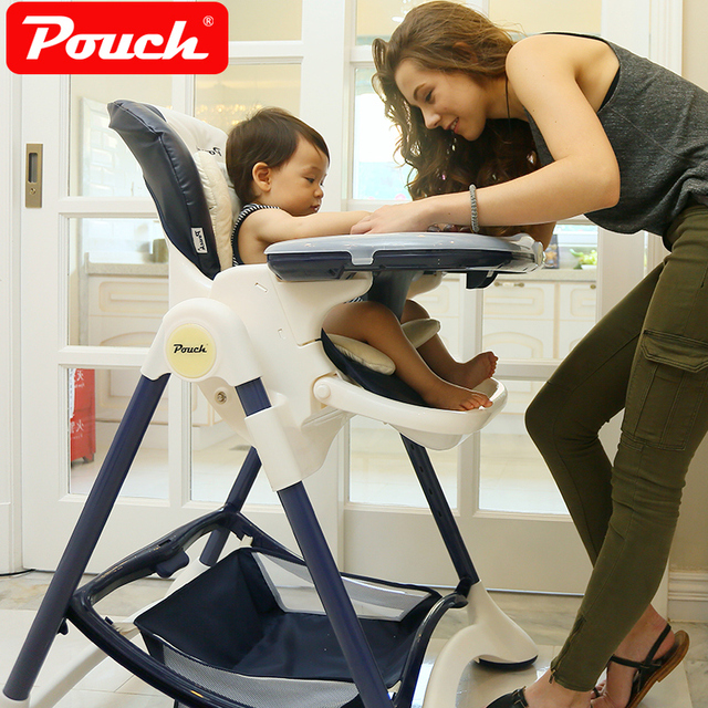 Pouch Fold Baby Feed Chair PP Plastic Plate Highchair Multifunctional Adjust Baby Feed Chair
