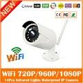 Hd Wi-Fi Ip-камера 2.0mp Открытый Водонепроницаемый Видеонаблюдения Cctv Cmos Ик Ночного Видения Белый Веб-Камера Freeshipping Горячей