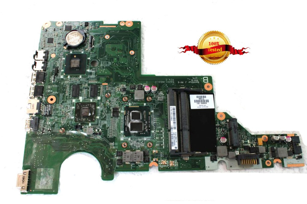 Top quality , For HP 637584-001 mainboard For HP Pavilion G62 CQ62 Laptop Motherboard i3-370M CPU HM55 HD6370M 512MB DDR3 nokotion 653087 001 laptop motherboard for hp pavilion g6 1000 series core i3 370m hm55 mainboard full tested