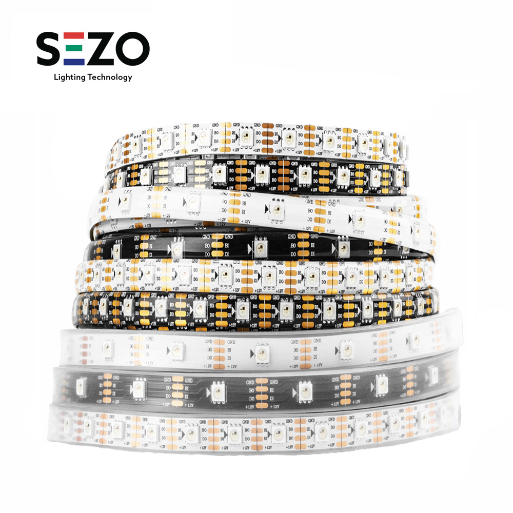 DC12V WS2815 RGB LED Pixels Strip Tape (WS2812B/WS2813) Light Individually Addressable Dual-Signal 1m/5m 30/60/144 Pixels/Leds/m