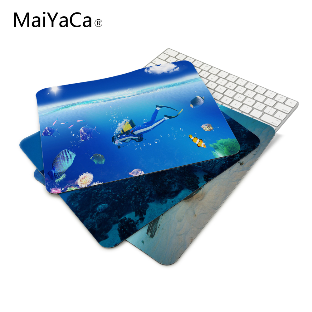 Photoshop Diver Submariner Design Mouse Pad For PC Laptop 22*18cm and 25*29cm Computer anti-skid table mat game pad