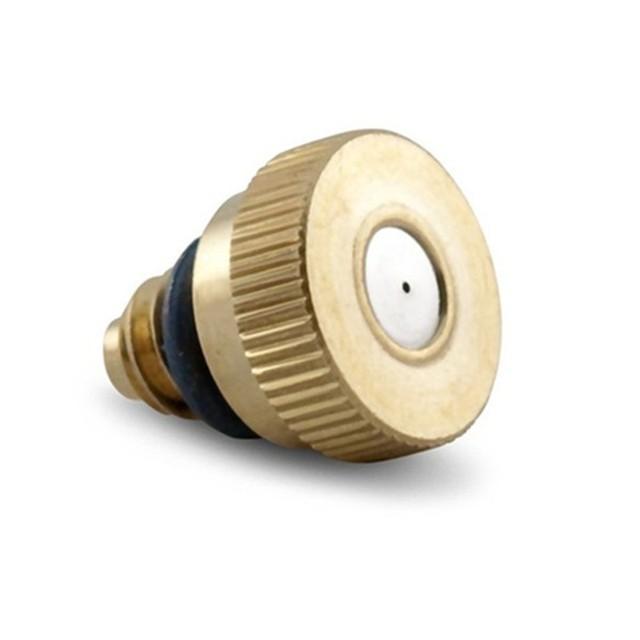E180 Threaded Brass Fog Mist Nozzle Misting Fogging Spray Sprinkler Head 0.2mm-0.5mm