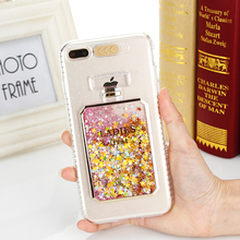 hot deal buy for iphone 7 case calling flash light colorful quicksand perfume bottle sequins case for iphone 6 6 plus 7 7 plus 6s 6s plus