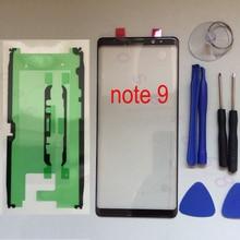 עבור Samsung Galaxy הערה 9 N960 N960F N960FD N960U N960W N960N מקורי טלפון קדמי חיצוני זכוכית לוח מגע החלפת מסך