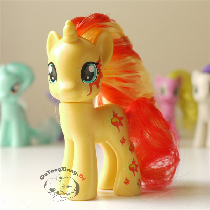 P8-110 Action Figures 8cm Little Cute Horse Model Doll Sunset Shimmer Anime Toys for Children(China)