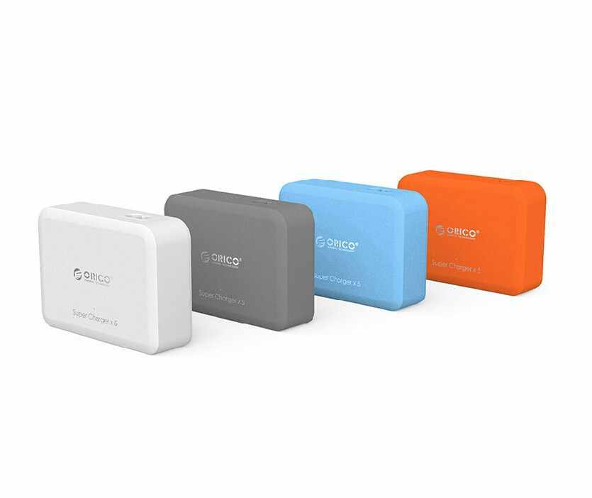 Orico US PLUG 4 Port USB Charger Dinding Charger Max 5V4A Output Smart USB Charger untuk Ponsel Tablet Perangkat USB travel Charger