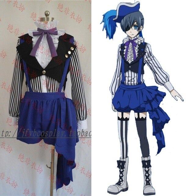 Black Butler Circus Ciel Phantomhive Cosplay Costume Anime Kuroshitsuji  Costume Outfit