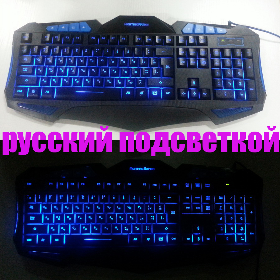 Russian gaming backlit illuminated keyboard Russia layout letter 3 color led backlight light gamer USB wired computer desktop russian new laptop keyboard for samsung np300v5a np305v5a 300v5a ba75 03246c ru layout