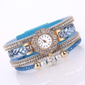#5001Women Watches Fashion Vintage Weave Wrap Quartz Wrist Watch Bracelet For Ladies reloj mujer New Freeshipping Hot Sales