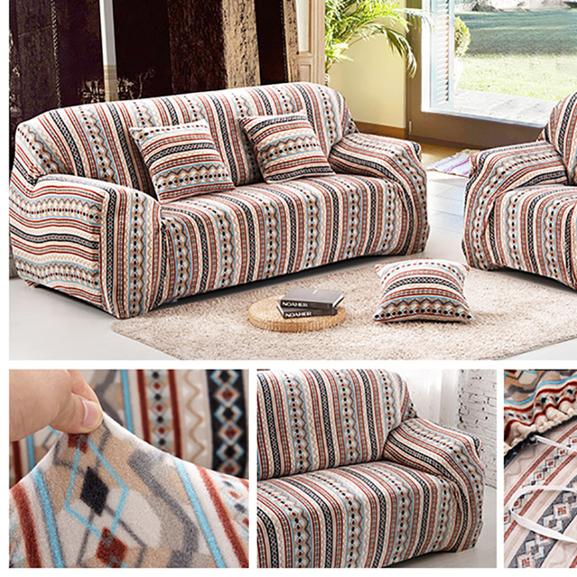 polyester sofa washing machine modern dog 100 striped stretch cover big elasticity couch loveseat furniture wash