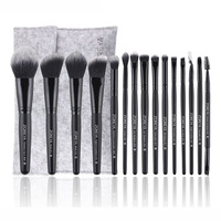 New Fashion 15pcs Makeup Brushes Set tools Make-up Toiletry Kit Wool Make Up Brush Sets Pincel Maquiagem Drop Shipping Eye Shadow Applicator