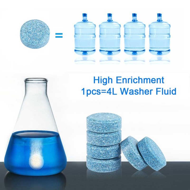 1pcs = 4L Vidro Líquido Detergente Limpador de Tela Janela Do Carro Mais Limpo máquina de Lavar Comprimidos Efervescentes Concentrado Sólido Arrumado