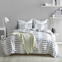 Fashion Stripes Bedding Set White Comforter Duvet Cover Sets Pillowcase Bedspread Home Textile Twin Queen King Adult Bedclothes