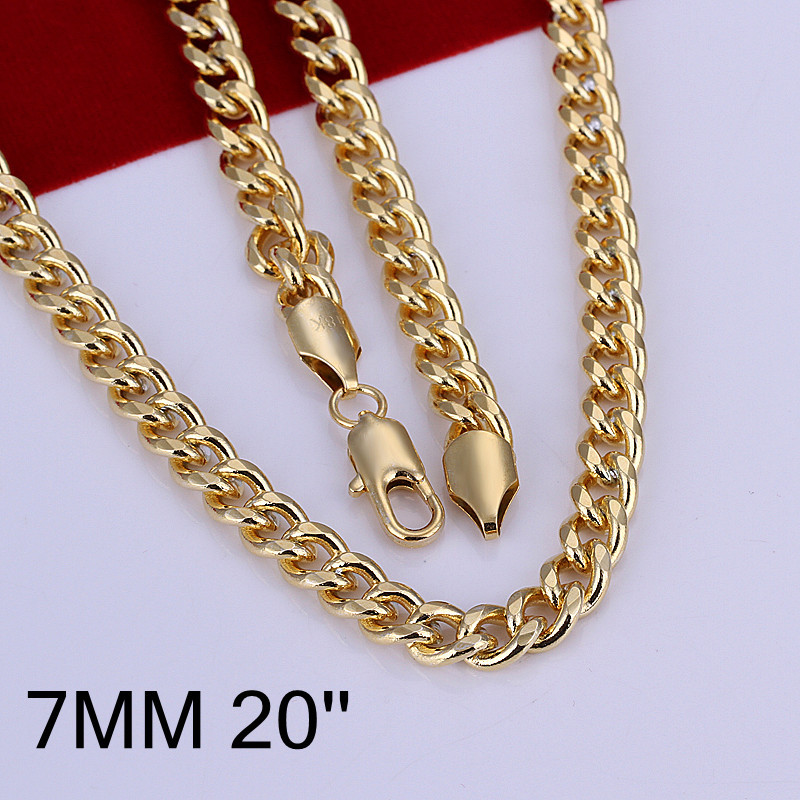 Thick Sideways Style Body Hiphop Chains Necklaces Gold Color Male Necklace for Party Men Jewelry