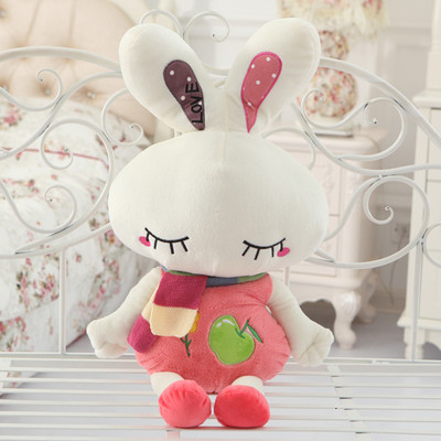 font b cute b font love rabbit 80cm doll plush toy scarf rabbit doll soft