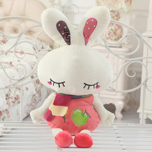 cute love rabbit 80cm doll plush toy scarf rabbit doll soft throw pillow , birthday gift  x090