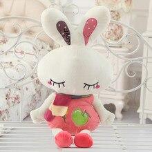 cute love rabbit 80cm doll plush toy scarf rabbit doll soft throw pillow birthday gift x090