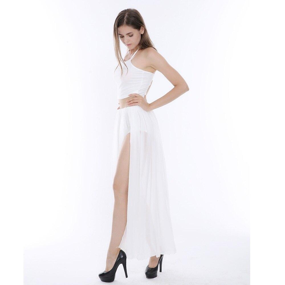 2017 sexy white chiffon spaghetti strap kim kardashian dress for sex
