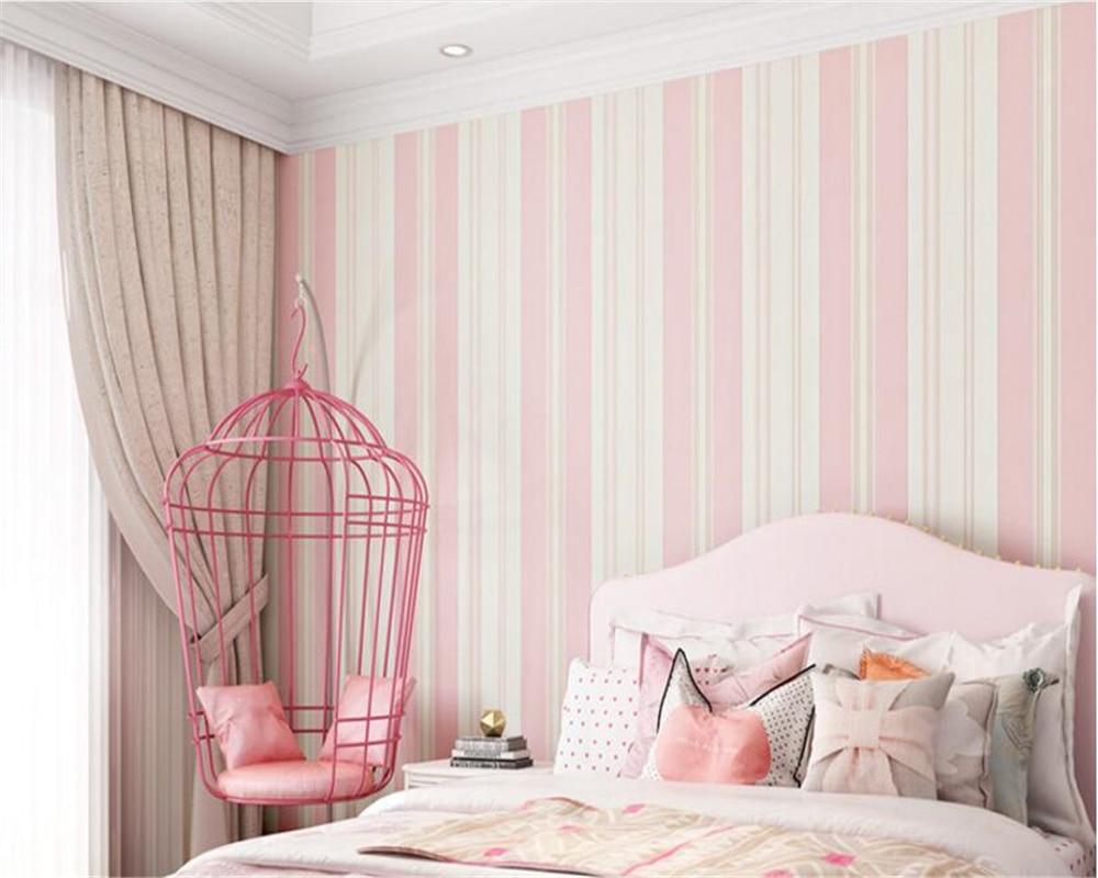 Behang Kinderkamer Roze : Beibehang kinderkamer moderne eenvoudige mediterrane blauw roze