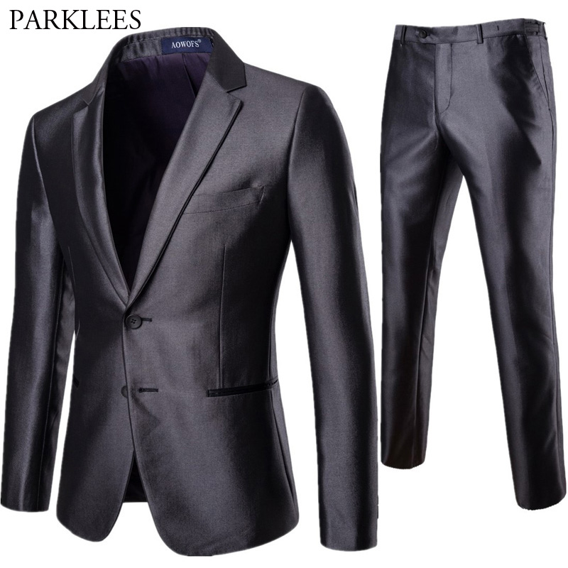Mens Wedding Groom Suits With Pants 2018 Brand New Single Breasted 2 Piece Suit (Jacket+Pants) Men Business Suit Costume Homme