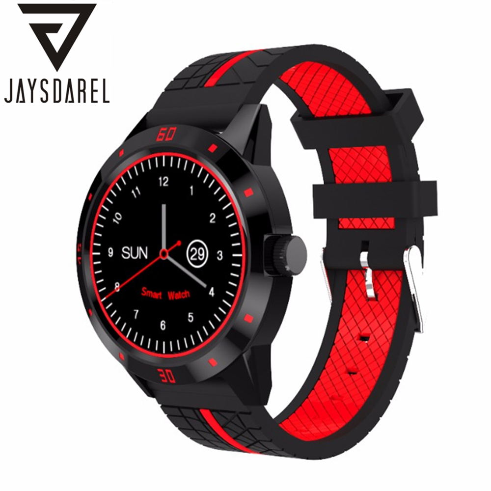 JAYSDAREL N6 Heart Rate Monitor Smart Watch Push Message Call Bluetooth Pedometer Fitness Tracker Bracelet for Android iOS leegoal bluetooth smart watch heart rate monitor reminder passometer sleep fitness tracker wrist smartwatch for ios android