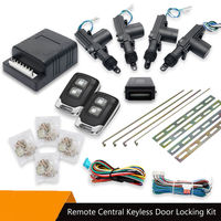 Car 4 Door Central Lock Actuator Auto Locking Keyless Entry System Remote Kit