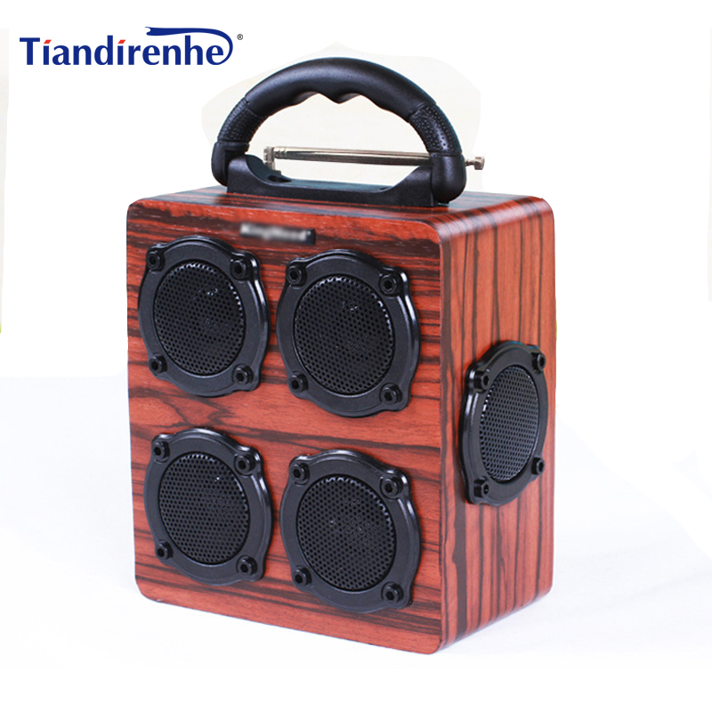 S609 Wooden Bluetooth Wireless Speaker Portable FM Radio PC USB AUX TF Card Speakers Stereo Bass Sound Box for iPhone xiaomi portable wireless bluetooth audio speakers aux mini fm radio usb card subwoofer bass loudspeaker karaoke 3d surround sound box