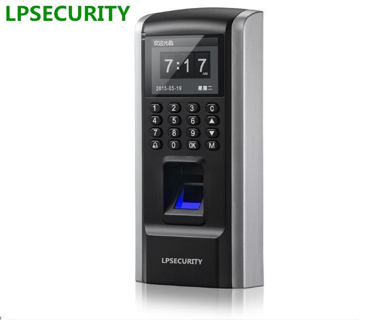 LPSECURITY rj45Fingerprint Dispositif de Contrôle D'accès De Temps de Présence Des Employés avec Contrôle D'accès F8 Clavier D'accès Biométrique RFID