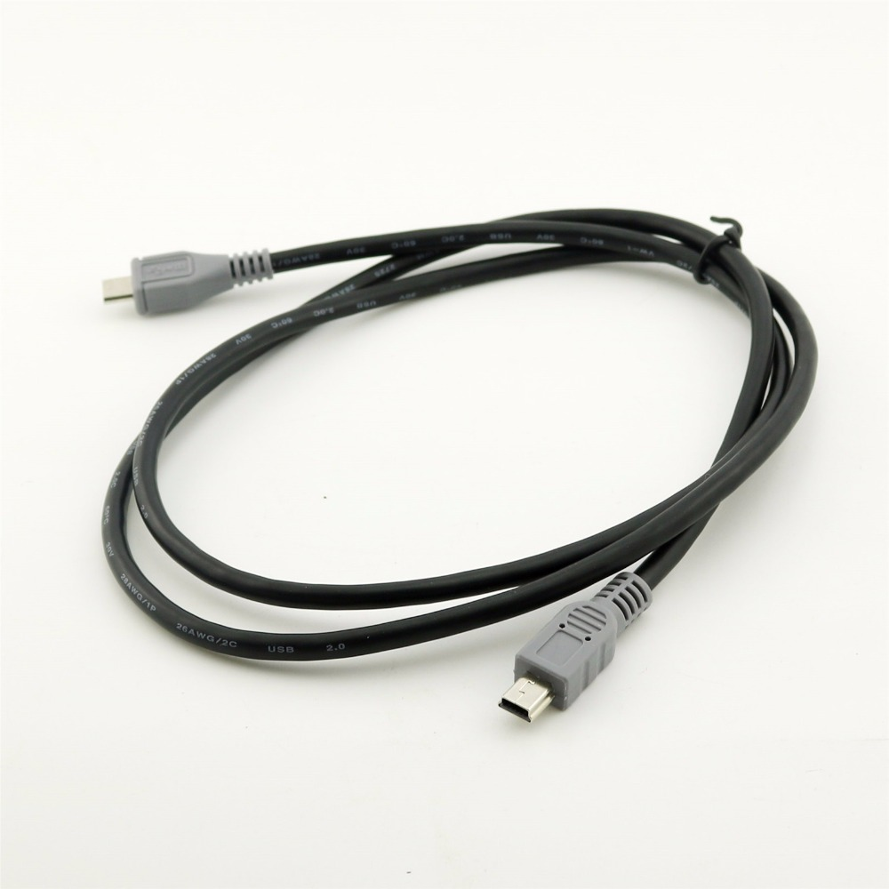 3Ft//1M USB2.0 Micro B Male to Mini B Male Plug Data Adapter Cable Extension Cord
