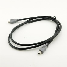 Mini USB tipo B macho a Micro B macho, convertidor adaptador OTG de 5 pines, Cable de datos de plomo de 20cm / 1M 3 pies, 1 unidad