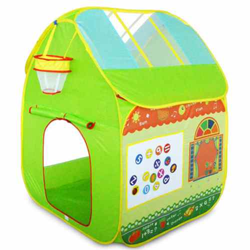 FlyingTown tente enfant avec basket-ball boîte bébé jouer maison en plastique jouet tente princesse réel 1-3 ans plein air fun sports