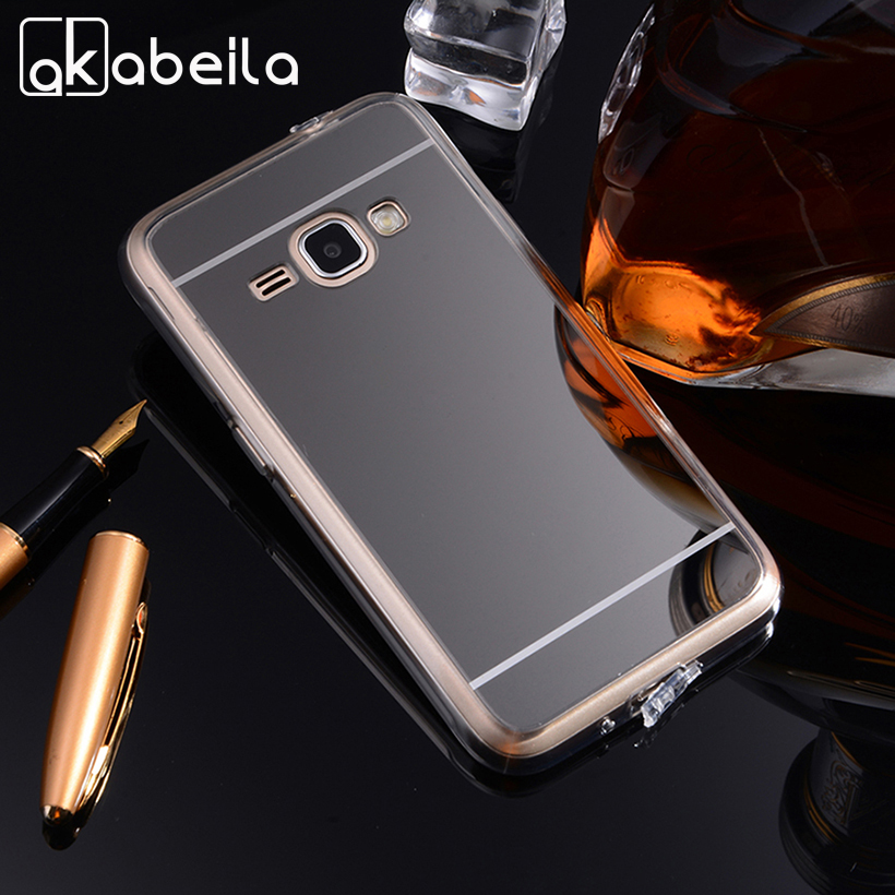 AKABEILA Phone Covers Cases For Samsung Galaxy J1 2016 SM-J120F/DS Case TPU Mirror J120 J120F J120H Duos SM-J120 Covers Skin image