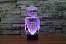 The new 7-color 3D USB creative Nightlight / LED lamp Cartoon Baby 122/ Free Shipping