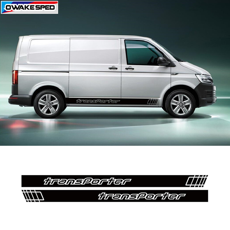 Fits Volkswagen VW Transporter caravelle T5 T6 Side stripe Decal Stickers Night