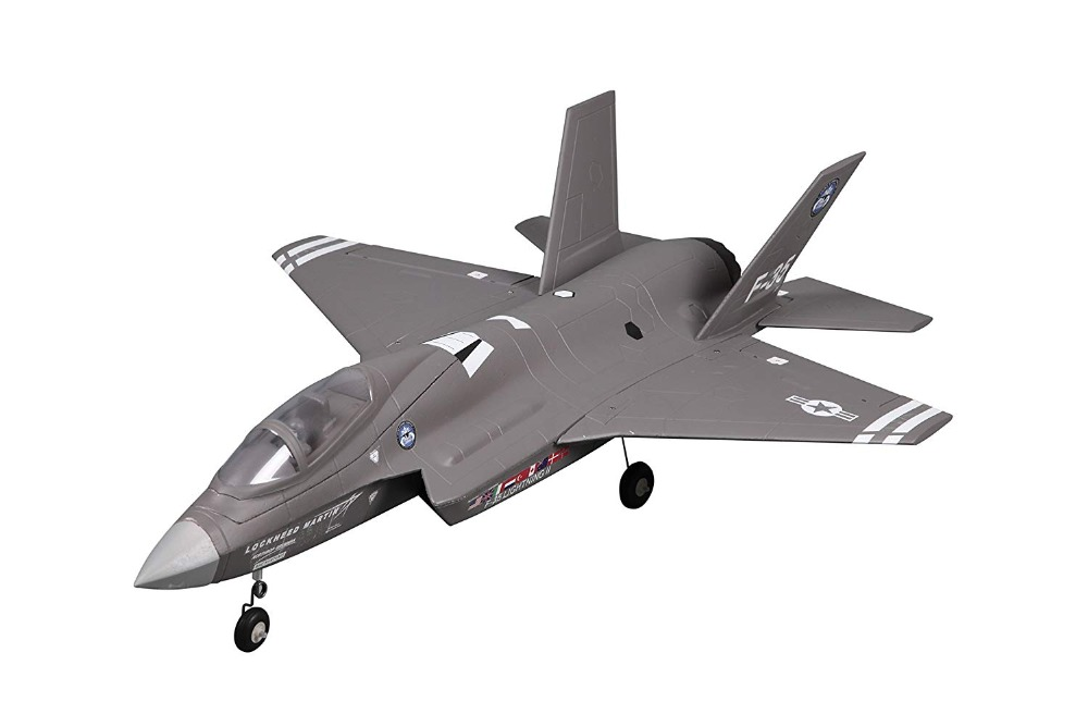 FMS RC Airplane 64mm F35 F-35 V2 Lightning Ducted Fan EDF Jet Grey Scale Warbird Fighter Model Hobby Plane Aircraft Avion PNP