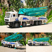1:50 alloy engineering vehicles,high simulation Cement concrete pump truck,educational toys,metal diecasts, free shipping