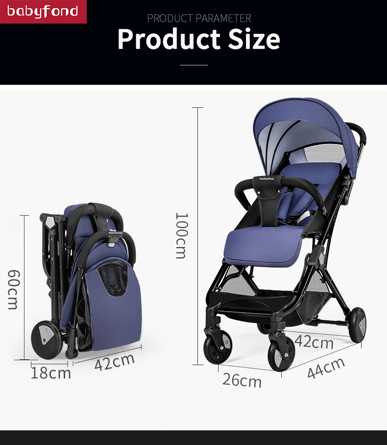 175 degree 6 8kg super light baby stroller High landscape four wheeled baby pram free shipping fold Newborn baby carriage in Lightweight Stroller from Mother Kids