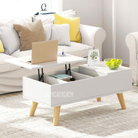 11012 Multi Functional Lifting Storage Tea Table Household Living Room Coffee Table Sitting Room Creative End Table Cabinet Desk