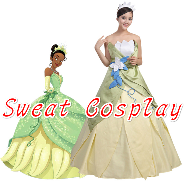 High Quality Halloween Costumes for women Princess Tiana costume the ...