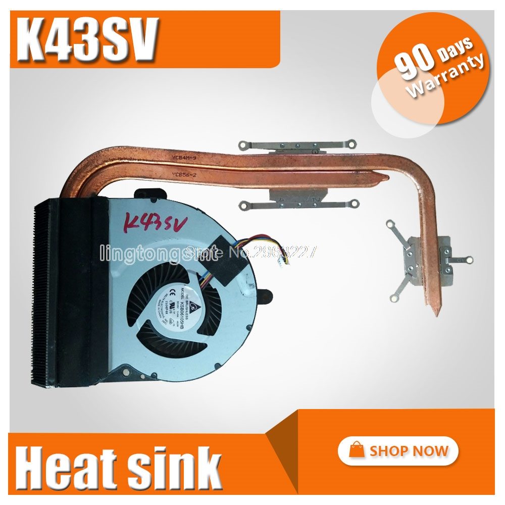 CPU Cooler Radiator Heatsink Fan Fit For ASUS A43 K43 X43 K43SV X43S K43SJ K43S K43SM X43S A43S laptop motherboard Fan