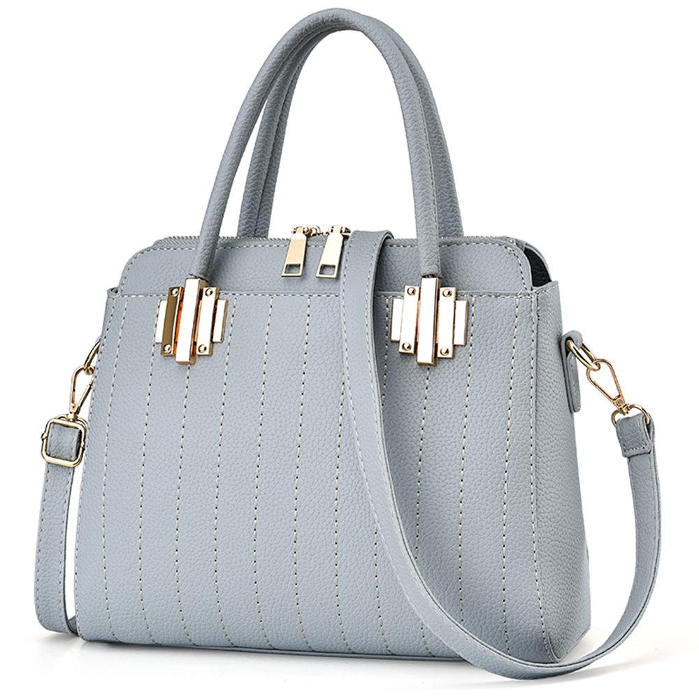 ФОТО Korean Fresh Style Exquisite Line Stripe PU Leather Lady Shopping Travel Handbag Fashion Women Shoulder Crossbody Bag
