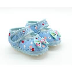 Летние тканевые ботиночки с мягкой подошвой для маленьких девочек, обувь Мэри Джейн в горошек с бантом