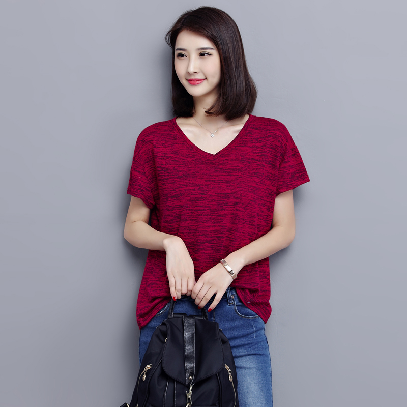 Plus size t shirts 2018 summer clothing for women casual for Large shirt neck size