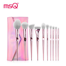New Pink MSQ10Pcs Professional Makeup Brushes Set Blusher Foundation Eyeshadow Make Up Brushes Kit Travel Make Up Tool Maquiagem все цены