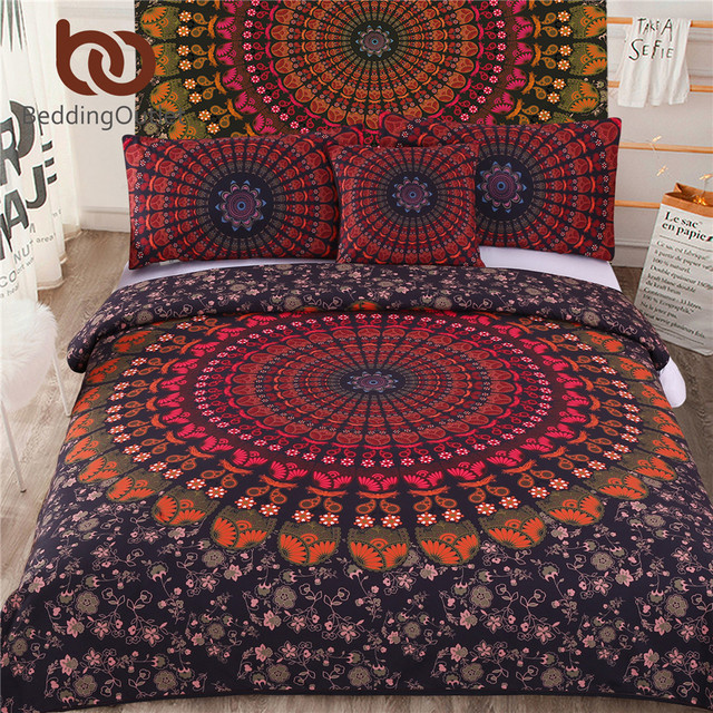 Us 39 79 40 Off Aliexpress Beddingoutlet 5pcs Bed In A Bag Home Bedding Set Bohemian Printed Cover Twin Full Queen King Bedclothes