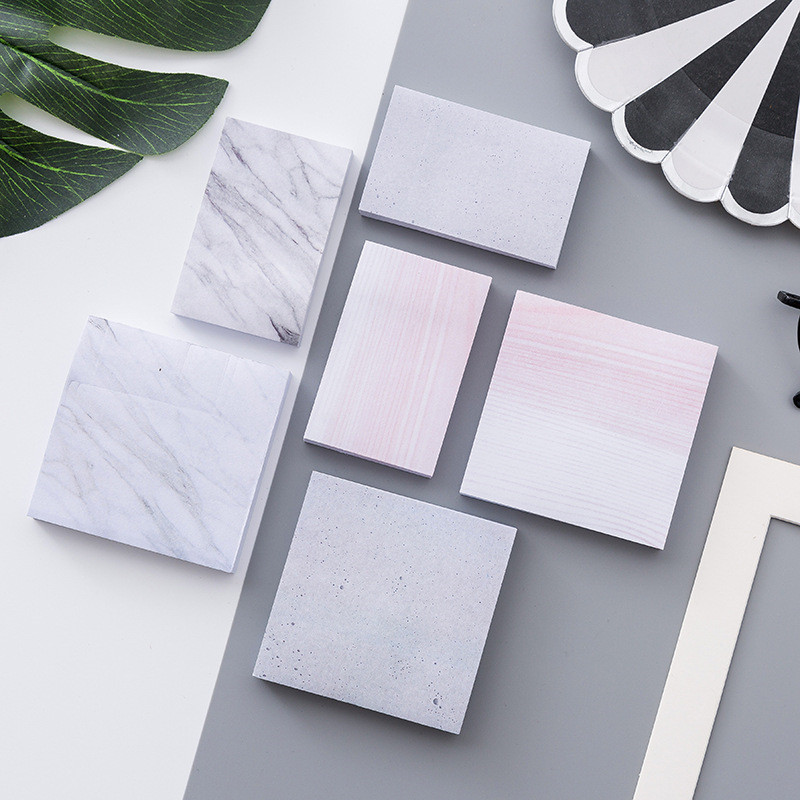 Korean Marble Texture Cute Kawaii Memo Pads Stationery Store Post it Office Sticky Note Paper Notepad Diary Item Planner Sticker never marble series sticky notes and memo pads set post it with sticker box fashion trend 2017 office supplies stationery store