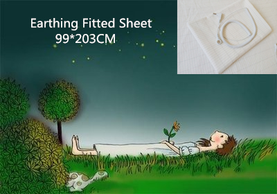 Earthing Sheet Twins XL (99 x 203cm) Silver Antimicrobial Fabric Conductive fabric  Radiant Life Earthing sheet Kit 1china earthing fitted sheet 198x203cm silver antimicrobial fabric conductive fabric new health grounding line mattress cover