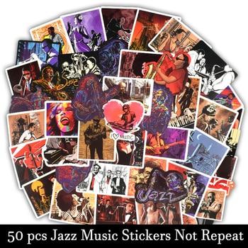 50 Uds. De pegatinas de Jazz Blues para cantar música Rock, pegatina...
