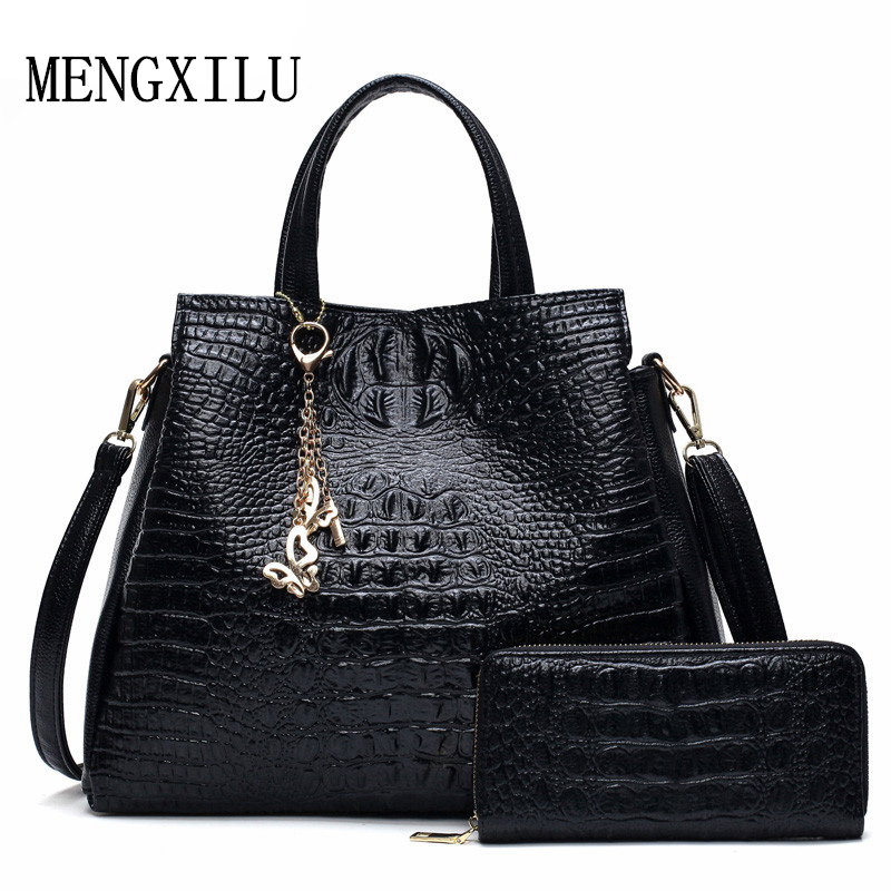 Alligator Composite Bag Hot Beading Beautiful Handbags Women Shoulder Bag  Women Crossbody Bag 2017 Famous Brand Sac A Main-in Top-Handle Bags from  Luggage ... 8b219290d58e7