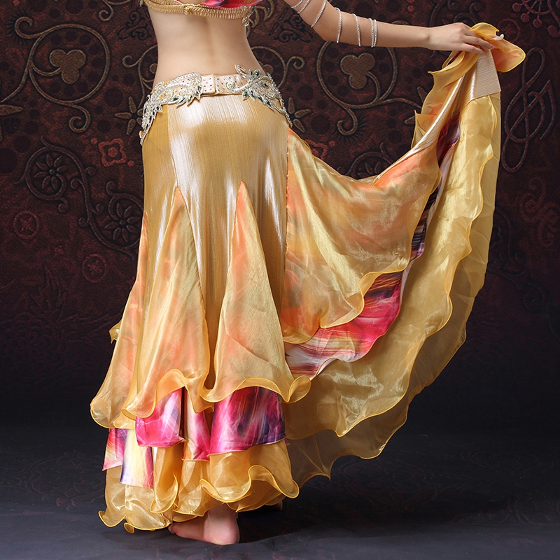 Lace fishtail skirt Belly Dancing Clothing Long Full Circle Skirts Wrapped Slits Skirt Women Belly Dance Skirts without belt in Belly Dancing from Novelty Special Use